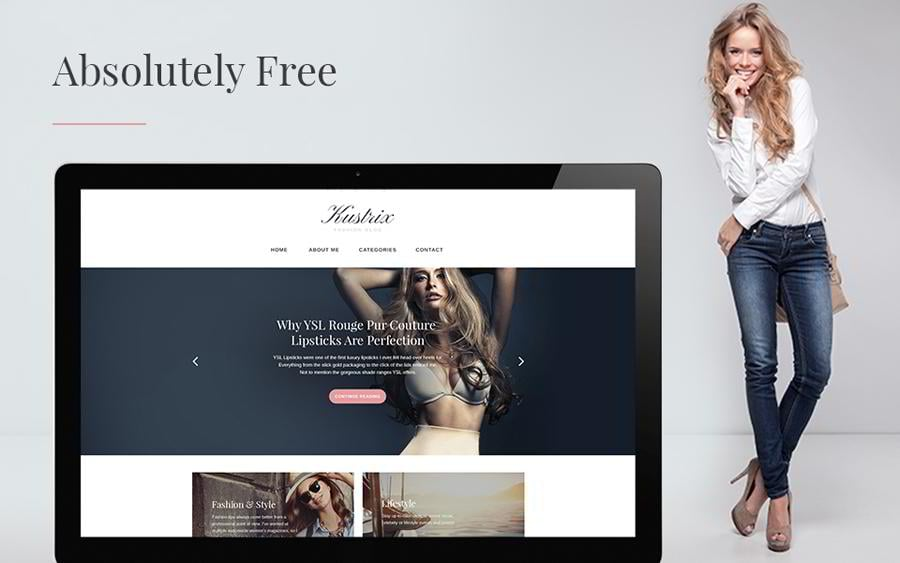 Kustrix Lite Free Gpl WordPress Theme For Fashion Blogs