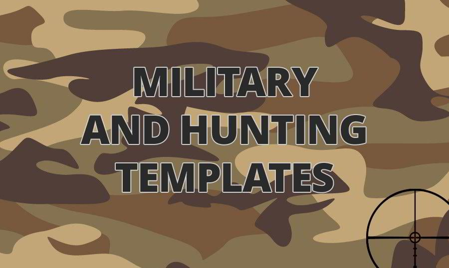 Military and Hunting Website Templates