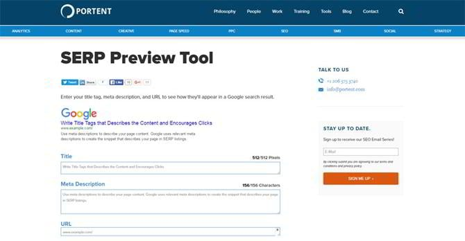 15 free premium seo tools for affiliate marketers for Portent usage examples