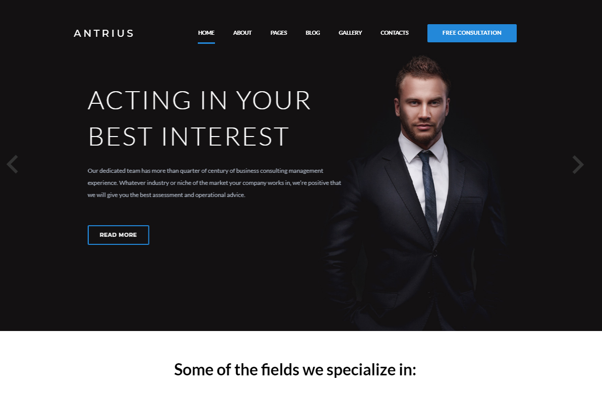 Antrius - Business Consulting Joomla Template