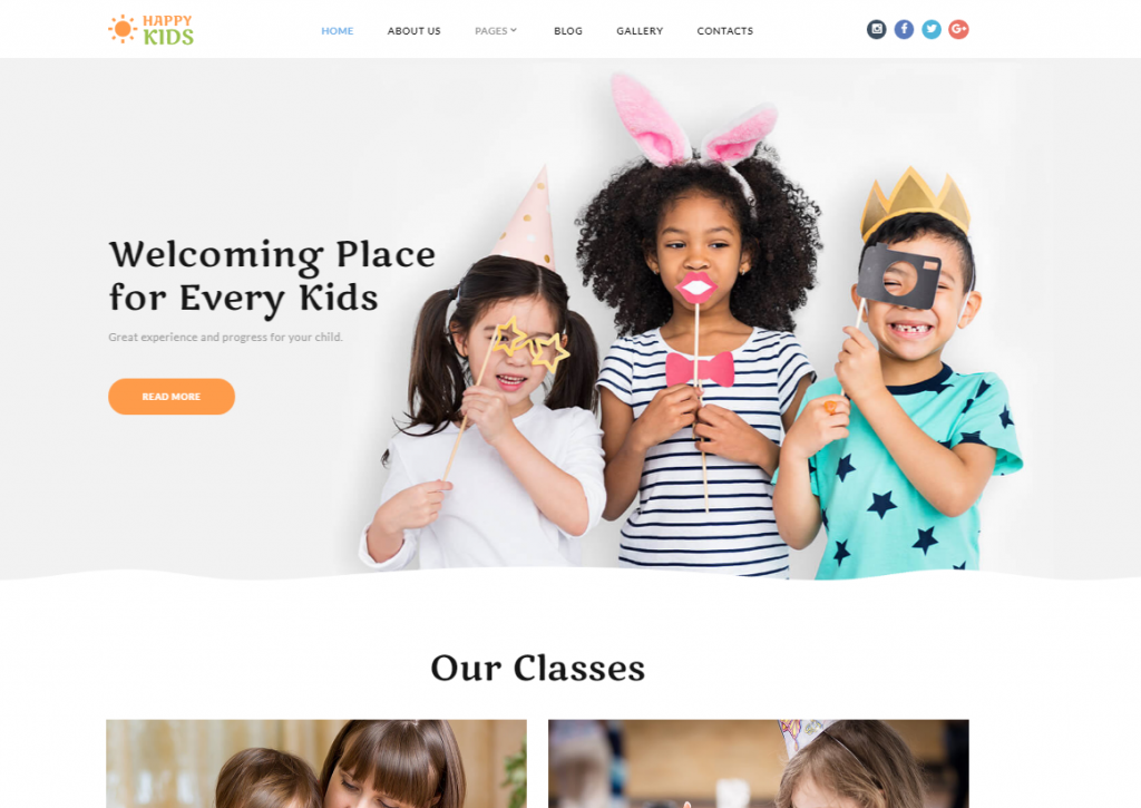 Happy Kids - Kids Center Joomla Template