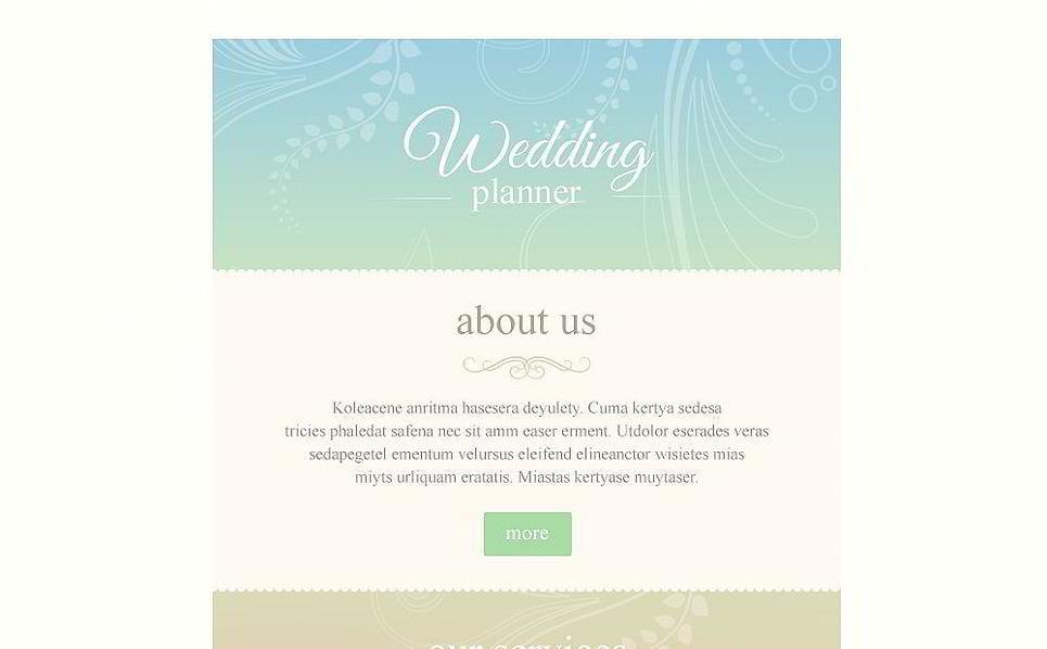 Responsive Email Newsletter Templates MonsterPost - Wedding newsletter template