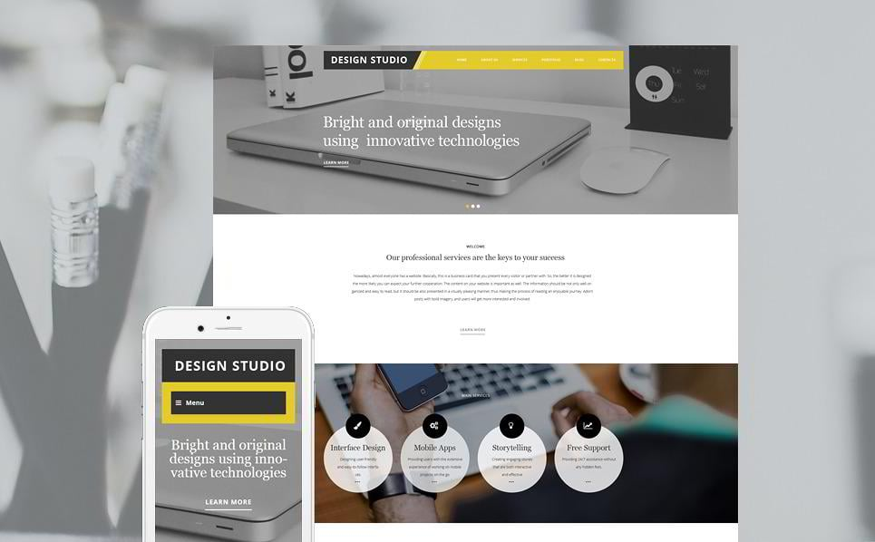 15 best parallax wordpress themes monsterpost