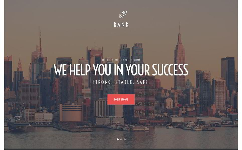 bank parallax template is another business parallax website layout best suited for a bank or a corporate website in general geared with full screen sliders
