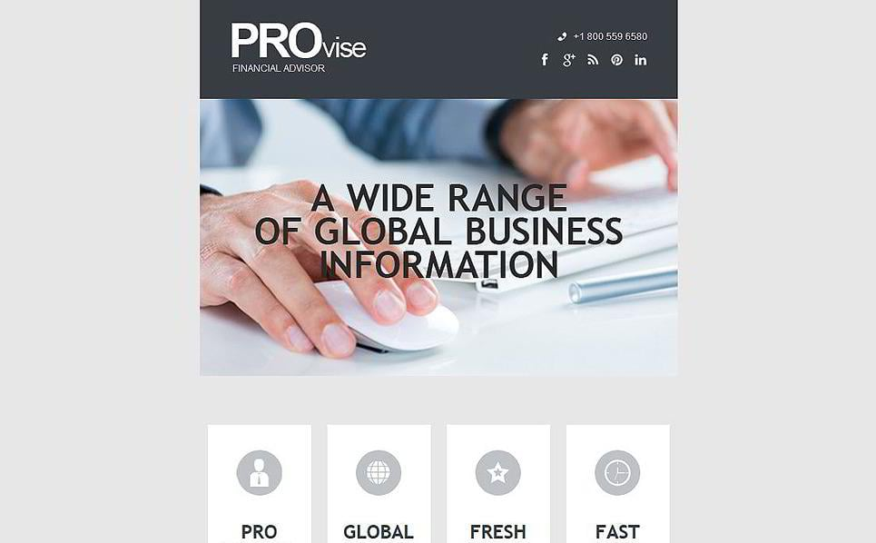 Exclusive Professional Email Template For Business Supports All Major Emails  And Ensures High Quality, Speed And Accuracy Of Your Website Running.