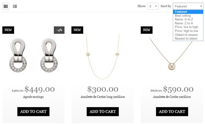 jewelry-shopify-theme-sorting-options
