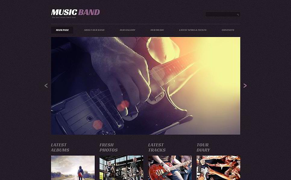 Music Band WordPress Themes