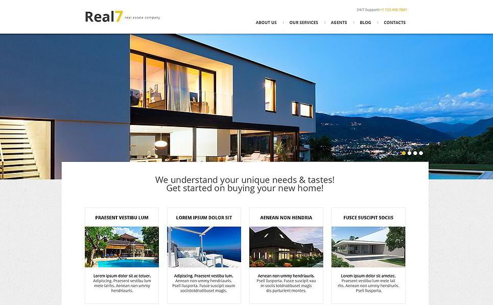 15 premium real estate wordpress themes monsterpost real estate agency wordpress template pronofoot35fo Image collections