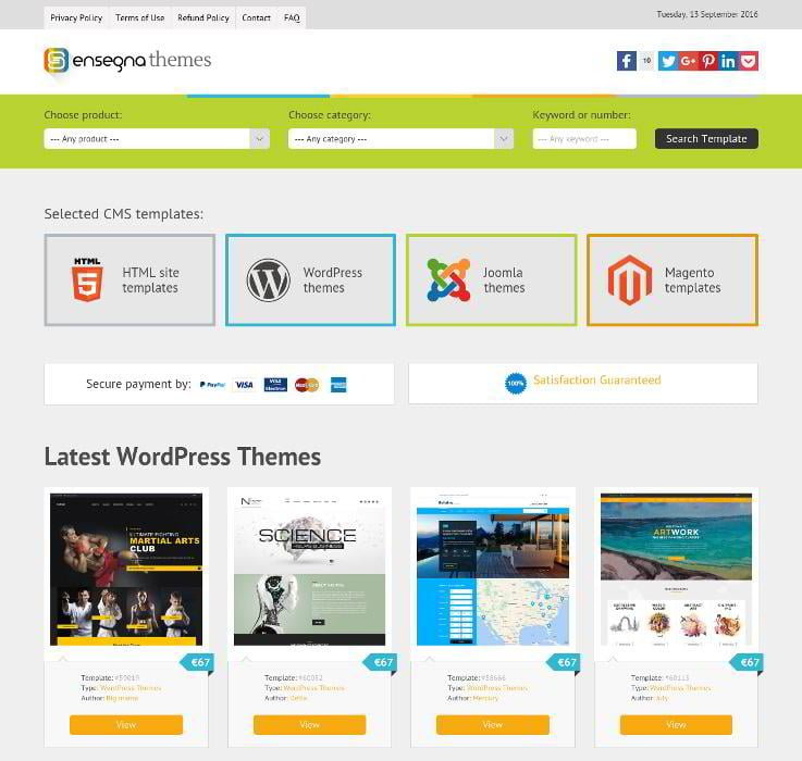 Affiliate Website Template. 14 years leading the web design market ...