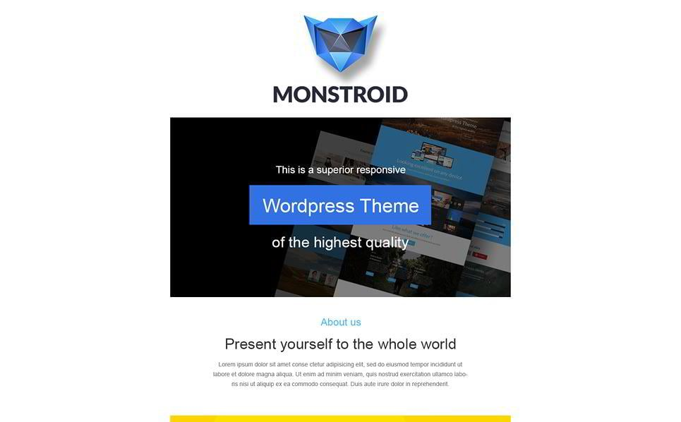 15 proven newsletter email templates for your business monsterpost to present your venture to the customers use this business newsletter template its design and color scheme are similar to monstroid wordpress theme flashek Images