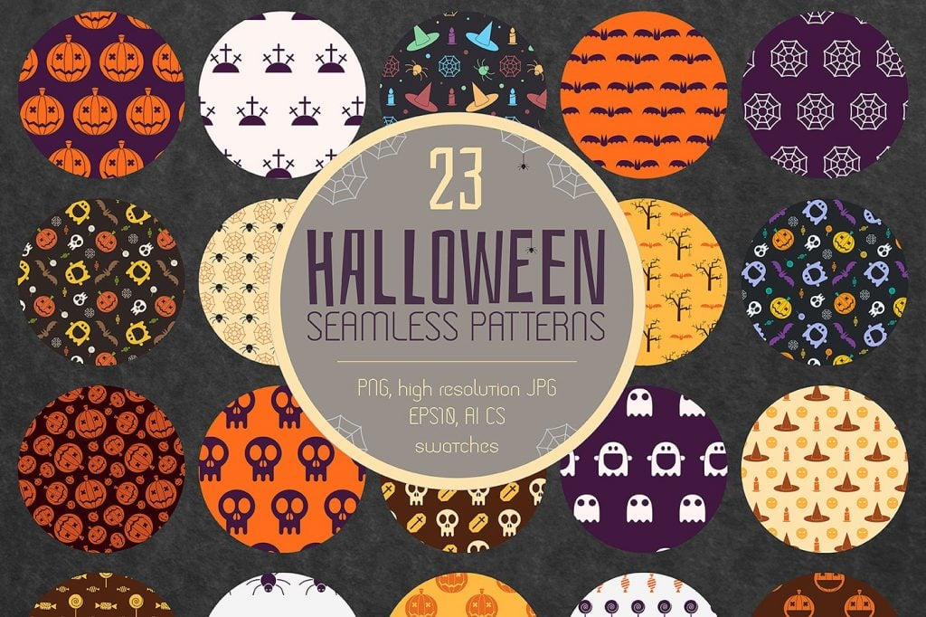 23 halloween patterns extended license