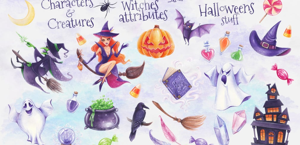 Happy Halloween Bundle: 29 illustrations – just $13
