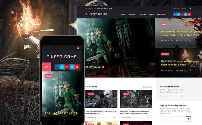Game Portal WordPress theme
