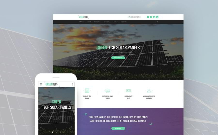 green-tech-website-template