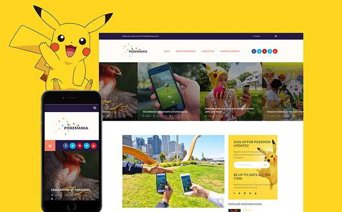 Pokemania WordPress theme