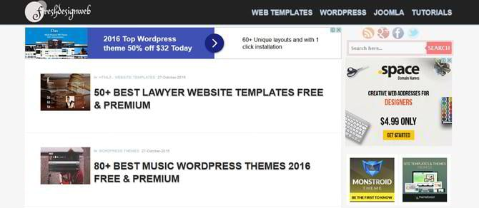 How can any blogger earn with templatemonster affiliate for Fresh design blog