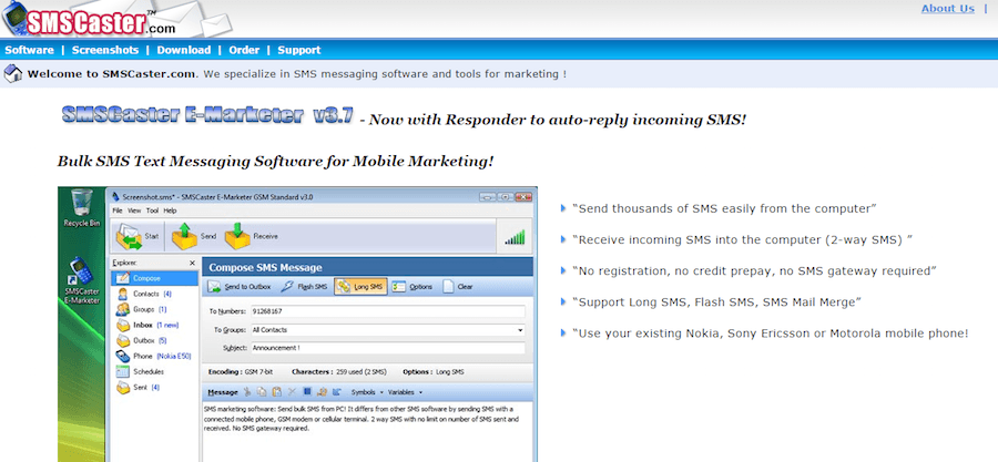SMS broadcasting tools
