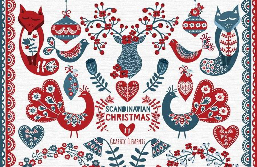30 awesome graphic design deals for christmas and new year for Scandinavian christmas designs