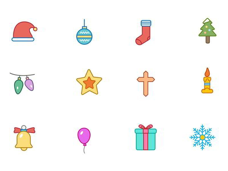 christmas-color-and-outline-icons-vol-1