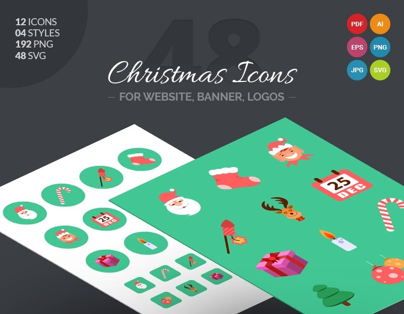 Christmas Icon Pack Iconset Template