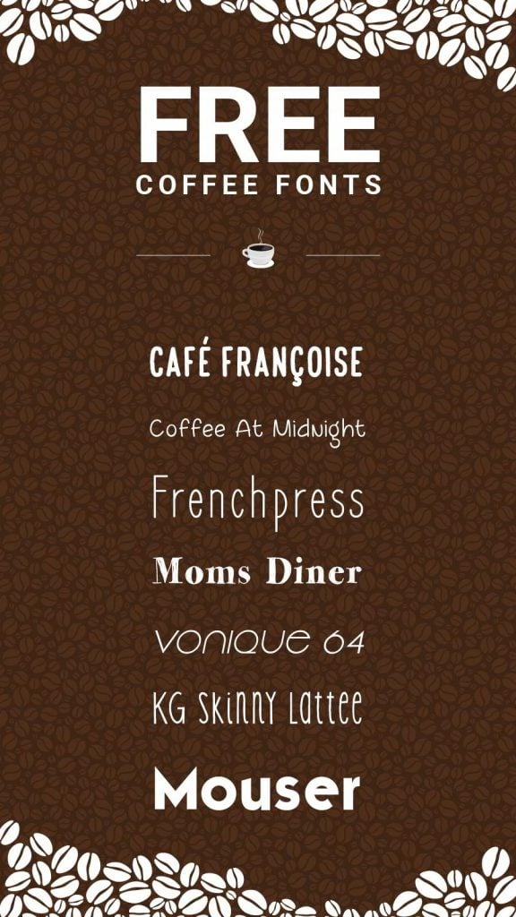 Free coffee fonts