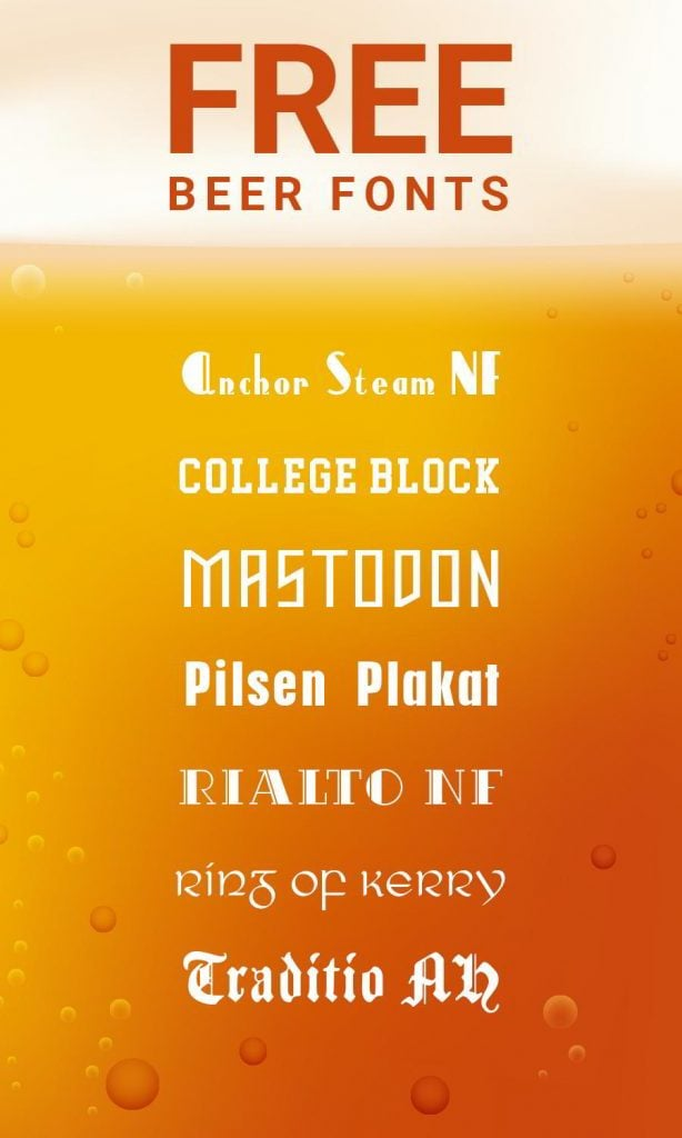 free beer fonts