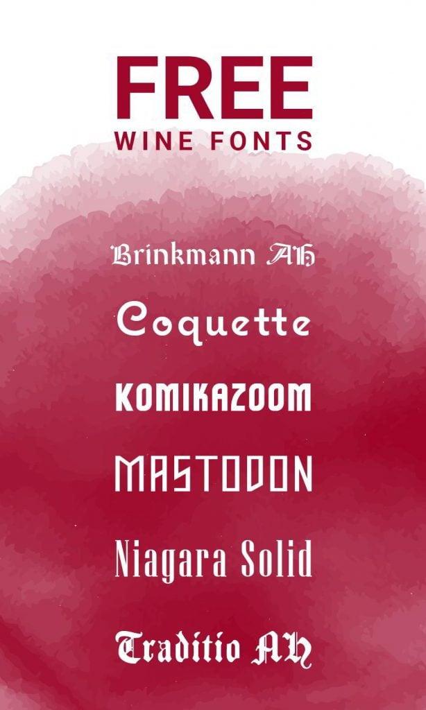 Free Wine Fonts