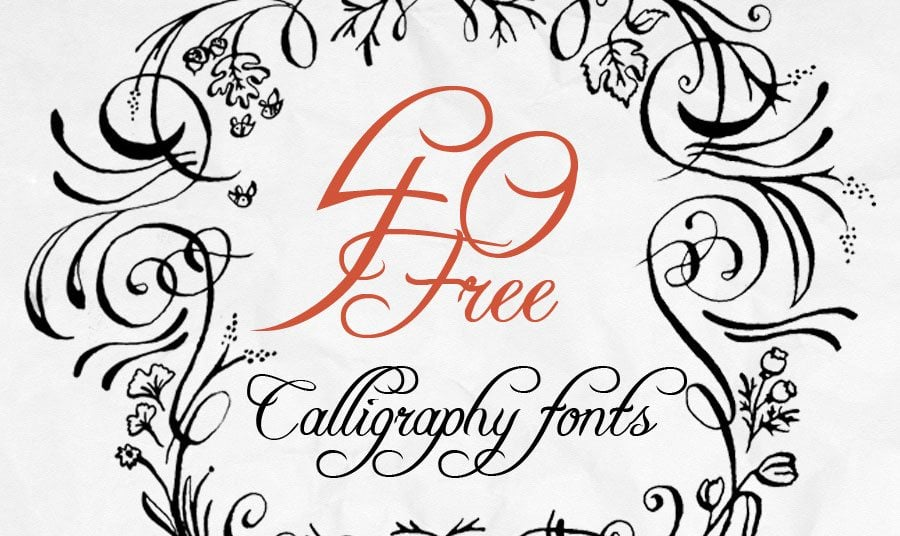 40 free calligraphy fonts for creative writing for Estilos de letras