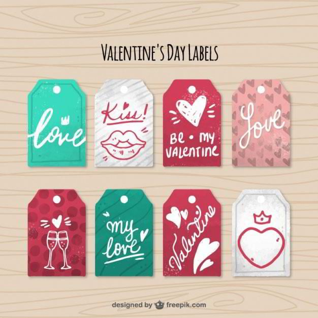 St Valentines Day Web Design Freebies for Sweet Declarations of Love – Valentine Day Label