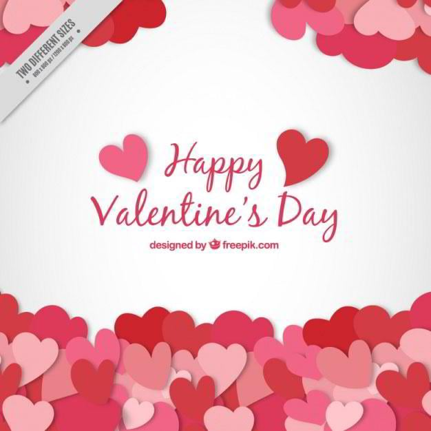 Valentine Background With Hearts Free Vector By Freepik