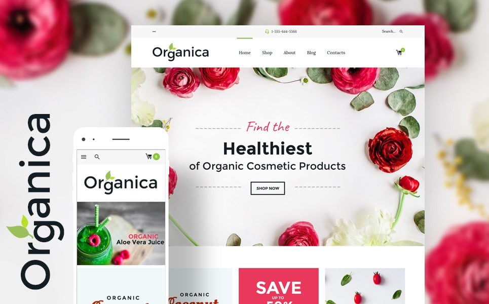organic food woocommerce theme