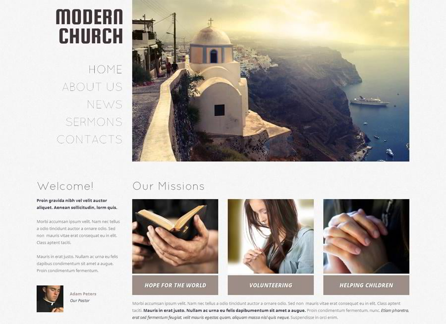 Religious Responsive WordPress Theme