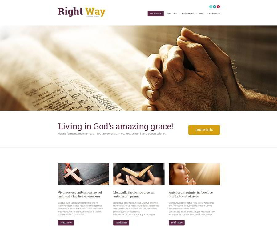 Religious WordPress Theme
