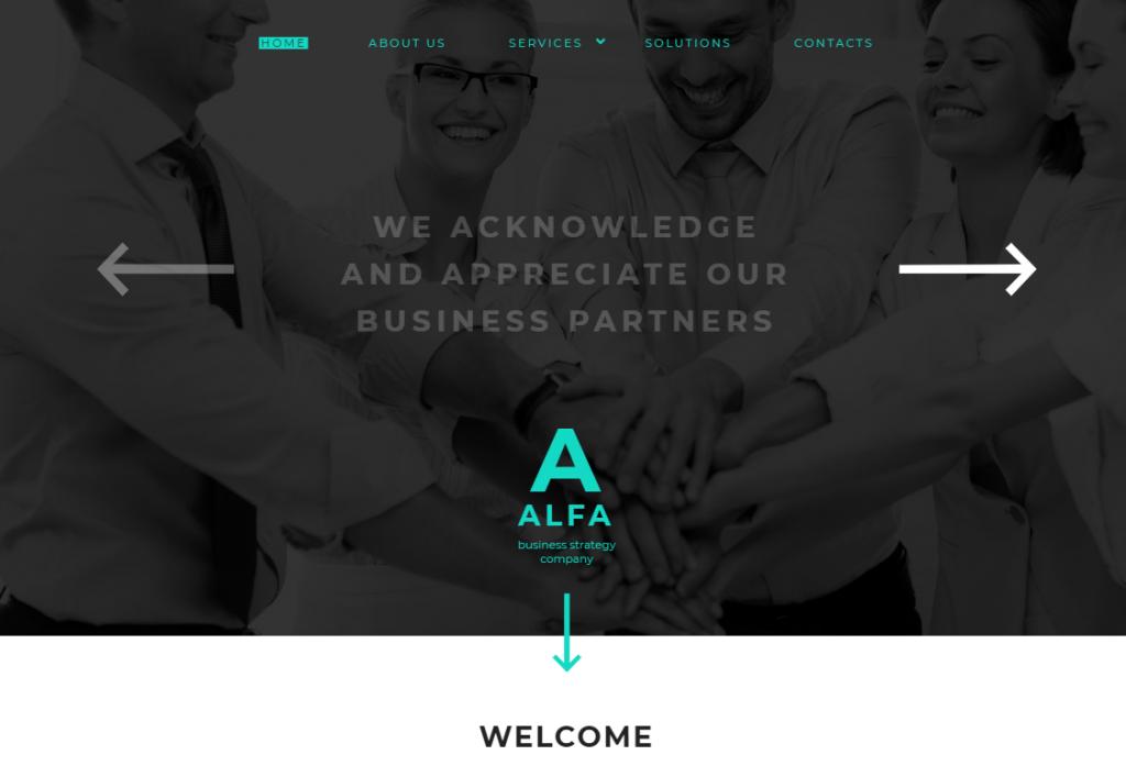 Alfa Website Template