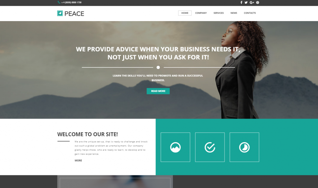50 best corporate website templates that are on top in 2018 business responsive website template friedricerecipe Gallery