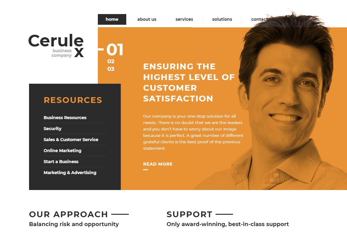 50 best corporate website templates that are on top in 2018 cerulex website template wajeb