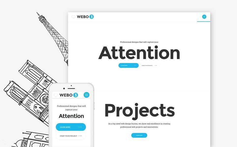 template siti web minimalista