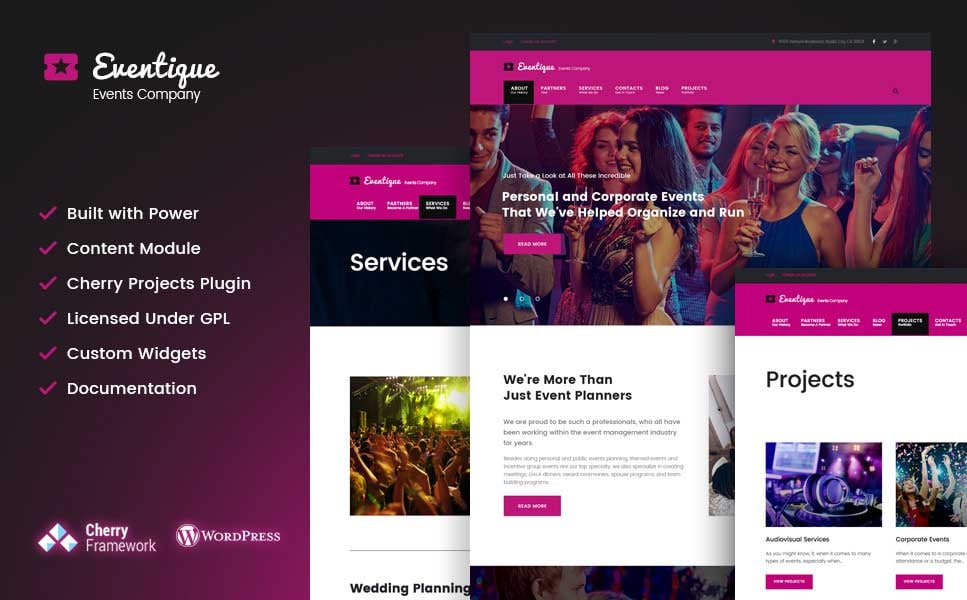 event WordPress themes