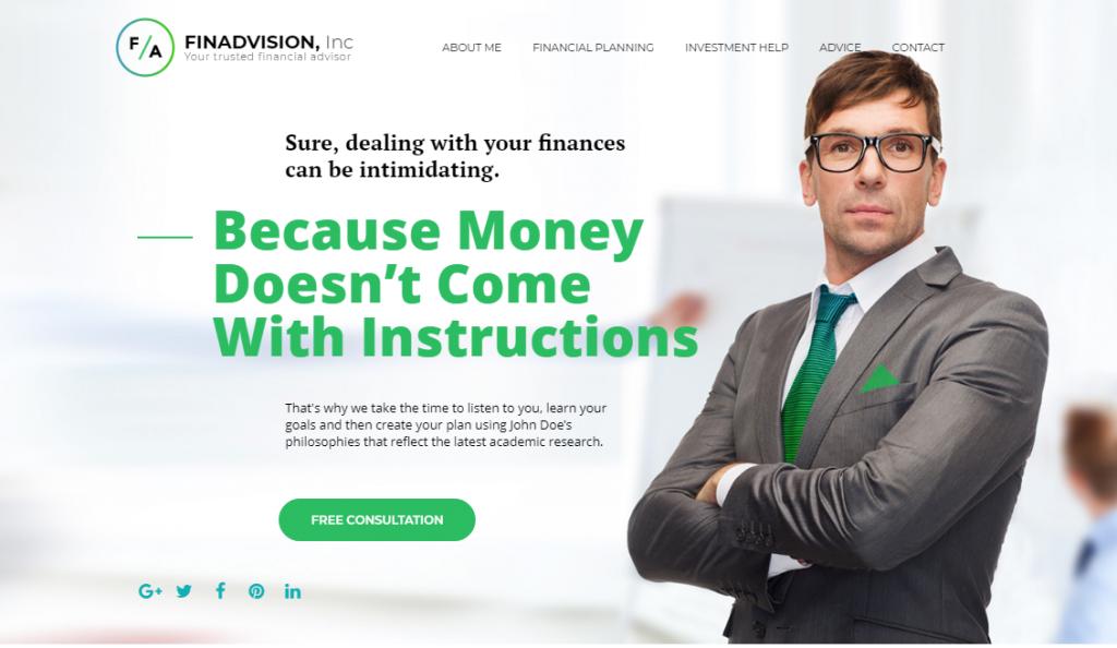 FinAdvision Inc Website Template