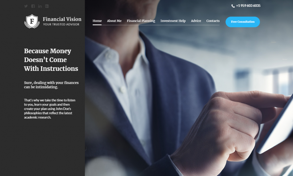 Financial Vision Website Template