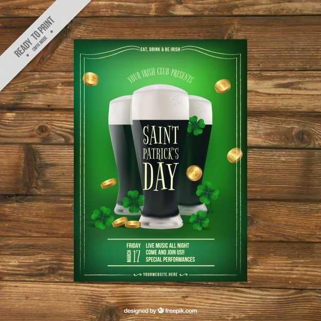 St Patrick S Day Web Design Freebies Free Your Hands For A Mug Of Beer