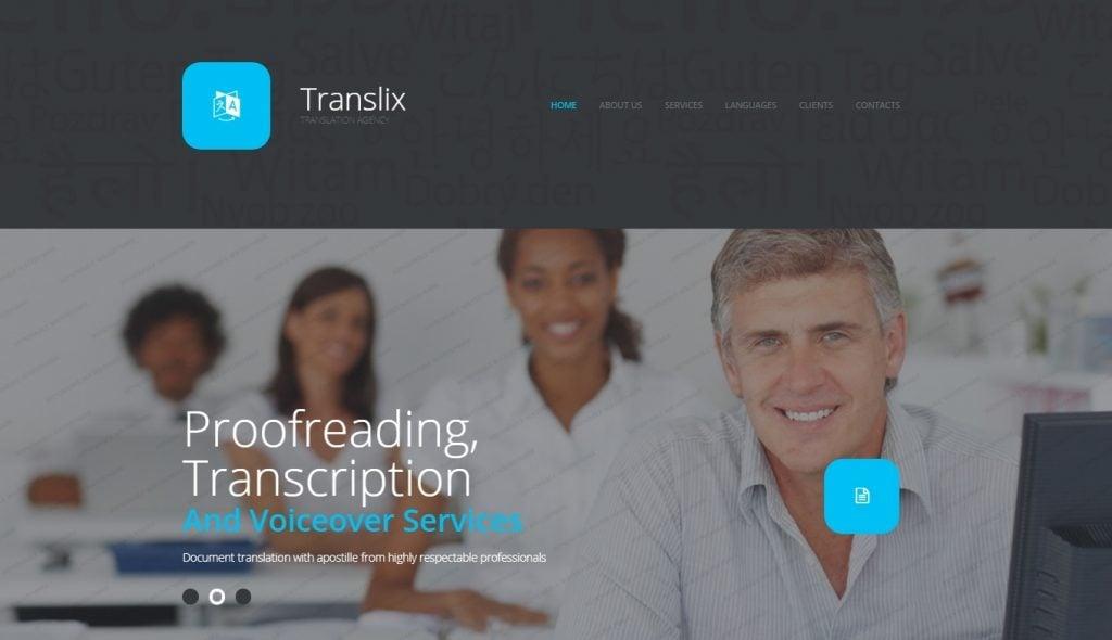 Translation Bureau Responsive Website Template