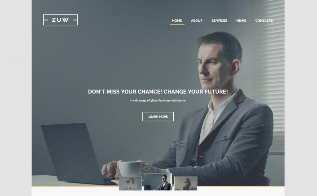 ZUW Website Template
