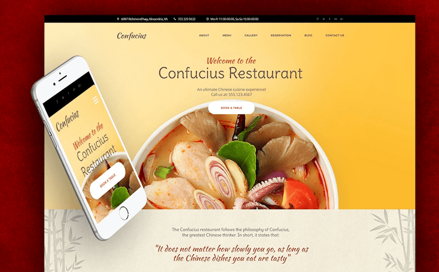 food and restaurant wordpress templates
