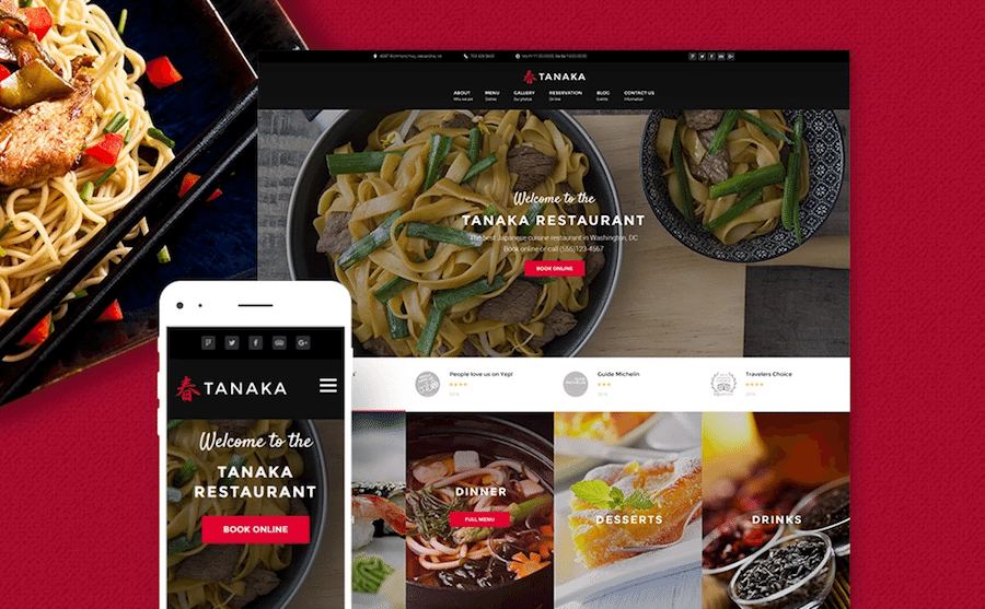 food and restaurant wordpress templates