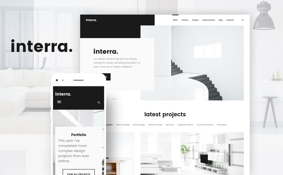 Interra Is A Minimalist WordPress Theme For Interior Design Websites The Really Simple And Clean An Excellent Demonstration Of Best Way To