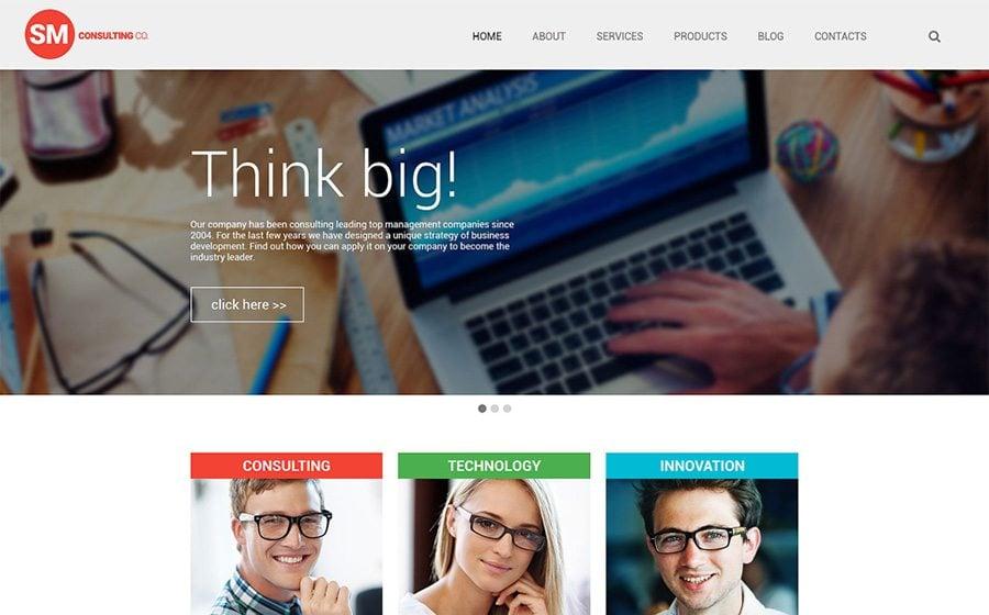 Consulting Co WordPress Theme