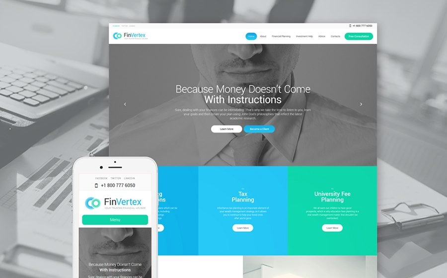 Fin Vertex WordPress Theme