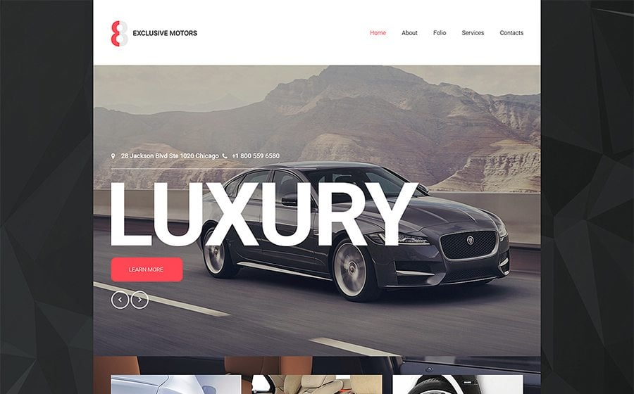 luxury car website  Car Dealer Website Templates to Quickly Start Your Business