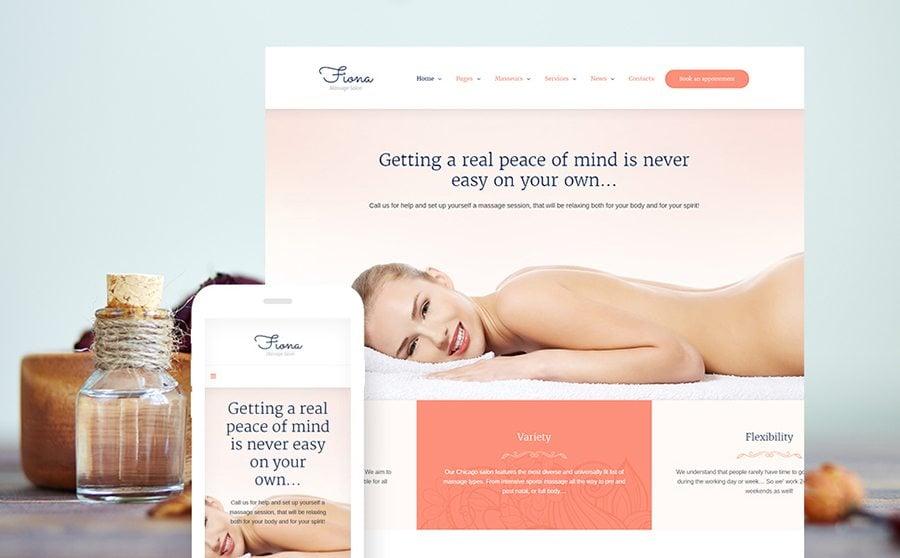 Beauty Spa & Massage Salon Website Responsive WordPress Theme